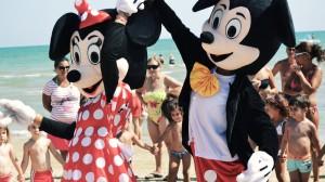 Minni e Topolino Spiaggia Grand Hotel Don Juan